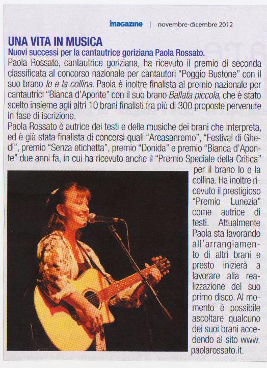 Paola Rossato Una vita in musica