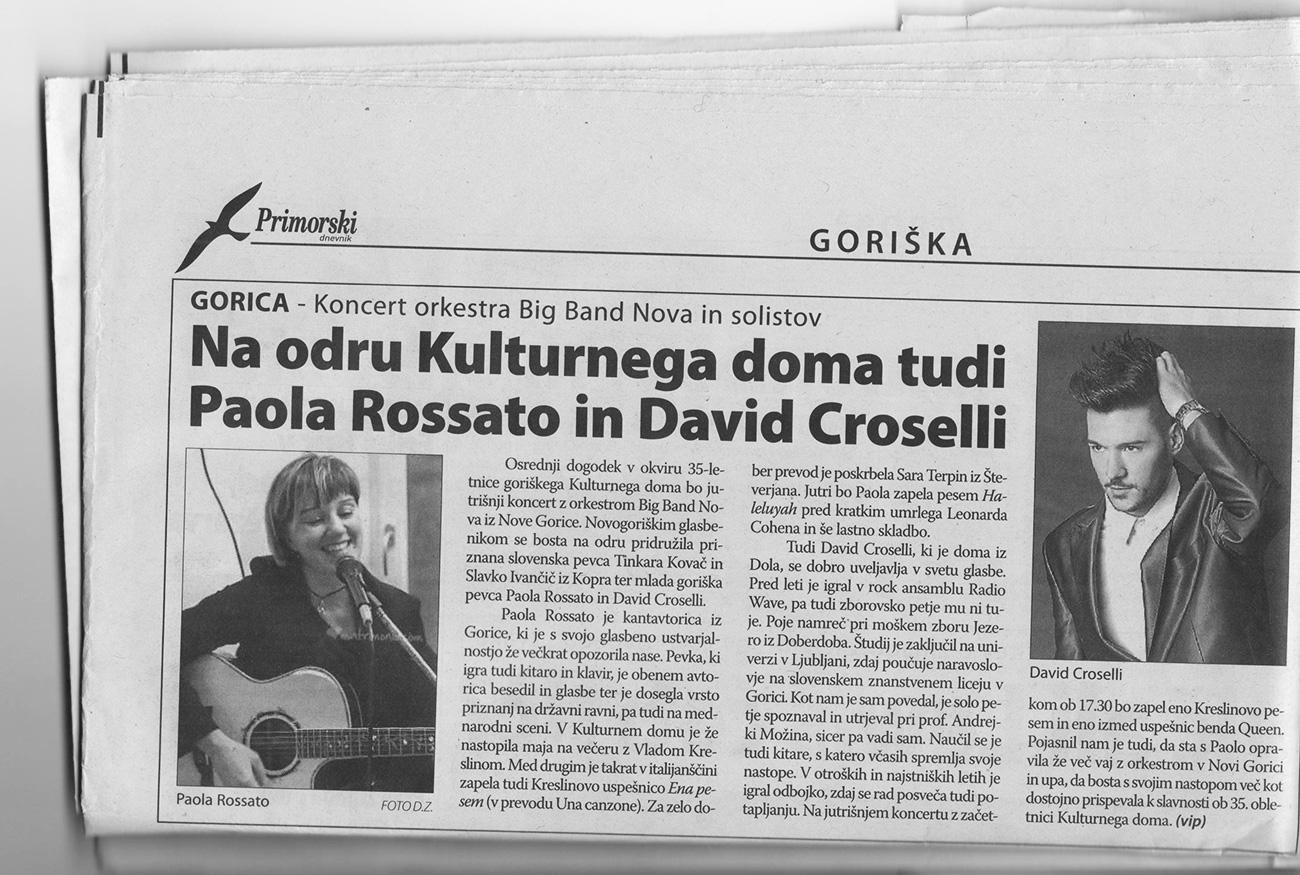 Paola Rossato Kulturni dom Gorica