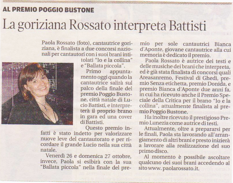 Paola Rossato intepreta Battisti