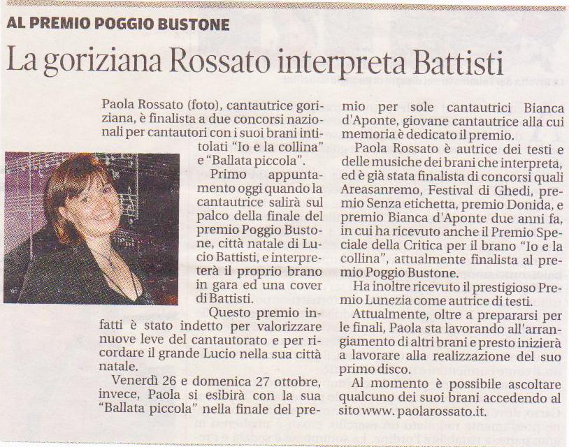 Paola Rossato intepreta Battisti