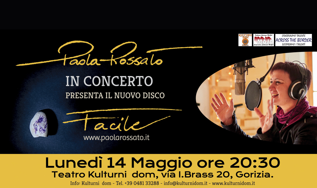 Paola Rossato in concerto al Kulturni dom