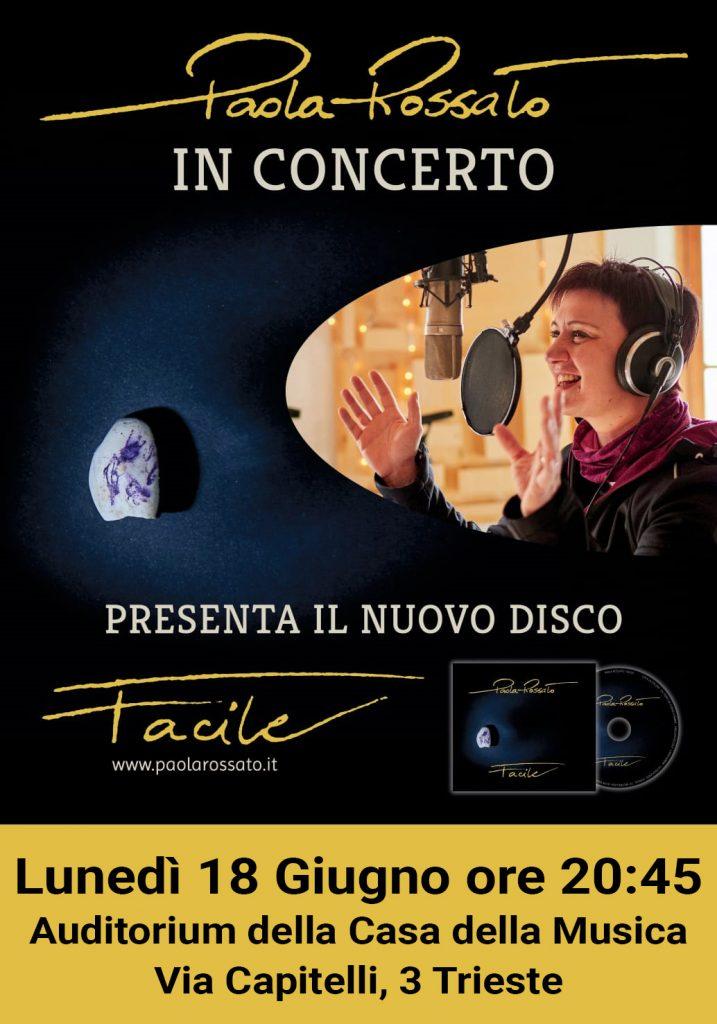 Paola Rossato - concerto all'Auditorium della Casa della Musica di Trieste